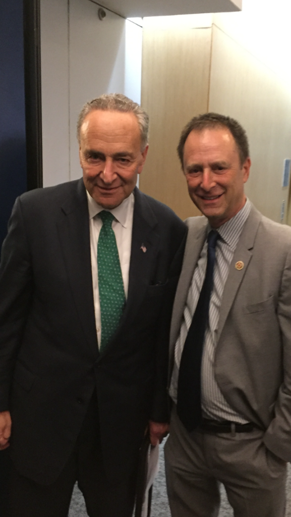Senator Chuck Shumer and Michael Barasch at the 9/11 Health Watch Benefit