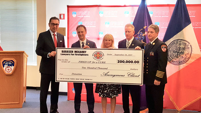 """""""FIRED UP For A CURE"""": Anonymous Firefighter Gives $200,000"""