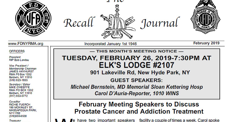 Michael Barasch and Richard Alles Featured in Retired Member's Association Newsletter
