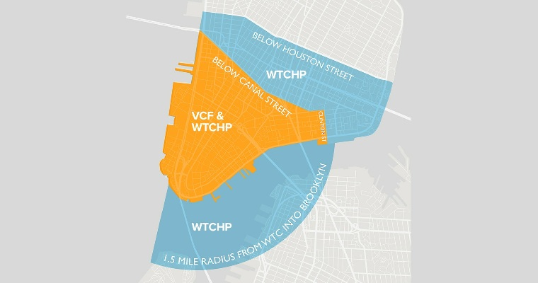 What are the Geographical Boundaries for the WTC Health Program vs. the VCF and What Does That Mean Regarding My Eligibility?